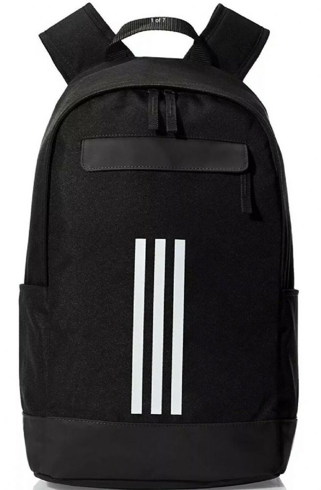 adidas Classic 3 Stripe Backpack Black Work Travel Gym Bag CF3300 BNWT